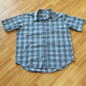 EUC men's plaid shirt sleeve button up